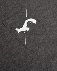Cross Map Pocket Crop Top Charcoal