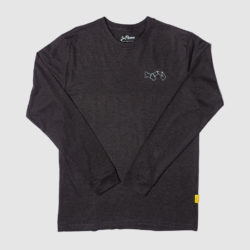 Panama Map Black Long Sleeve