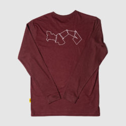 Panama Map Long Sleeve Wine Red