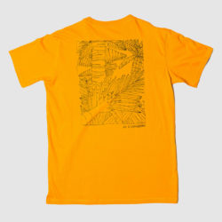Panama Jungle Map Mustard Yellow Tee